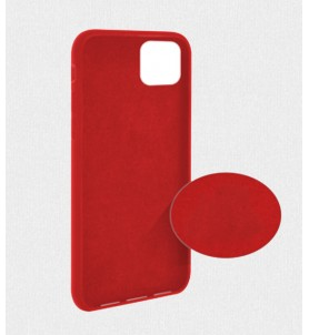 Cover gommata serie Liquid Case Colore Amaranto Per IPhone 11