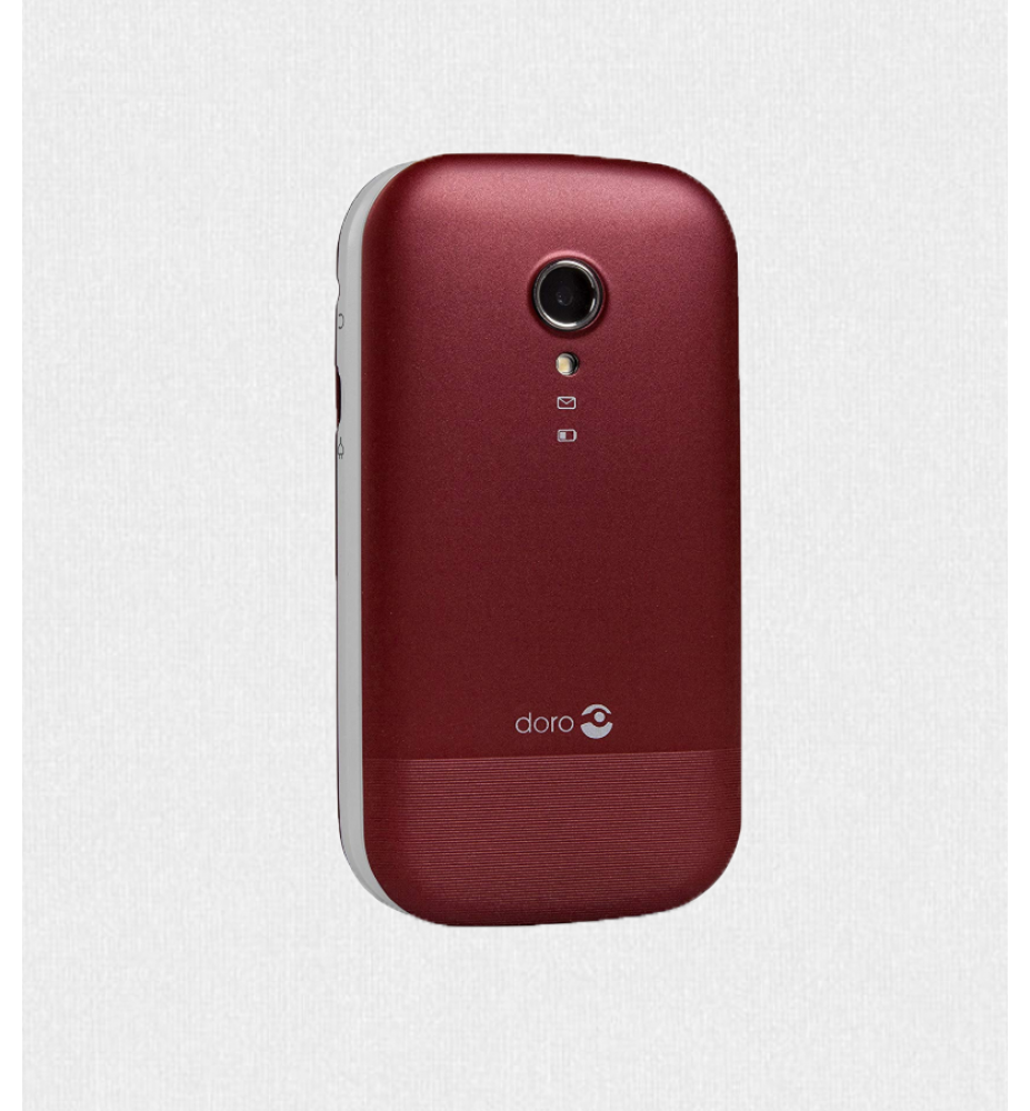 Doro 2404 Red White Easy Phone