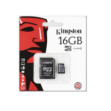 MEMORIA KINGSTON MICRO SDHC 16GB CLASSE 4 + ADATTATORE SD