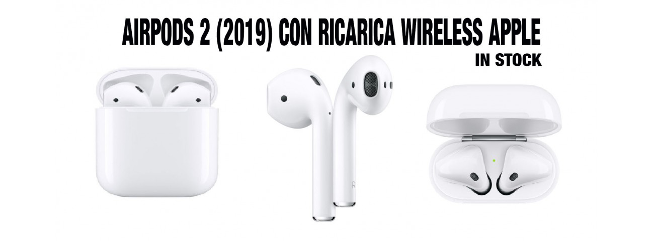 AURICOLARE BLUETOOTH AIRPODS 2 CON RICARICA WIRELESS