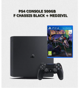 PS4 CONSOLE 500GB F CHASSIS BLACK + MEDIEVIL